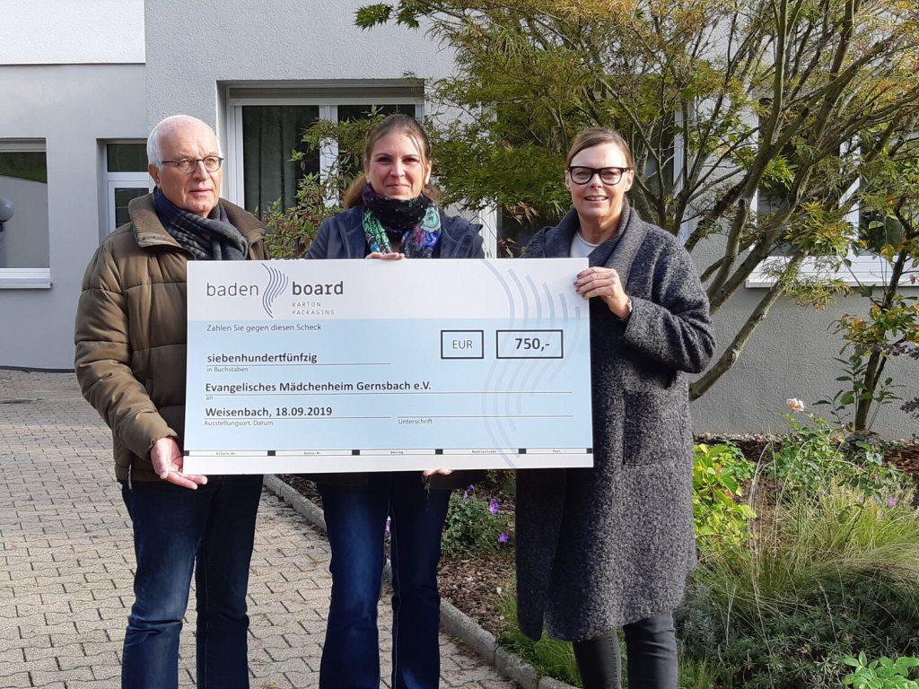 Baden Board unterstützt das Mädchenheim Gernsbach